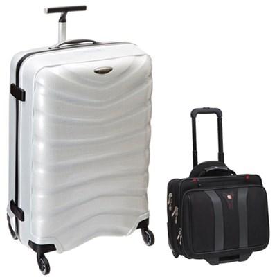 28` Black Label Firelite Spinner (Off White) + Wenger Laptop Boarding Bag