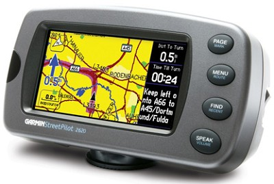 Street Pilot 2620 Portable GPS Receiver Pre-programmed US/Part Canada Map Detail