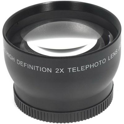 52mm High Definition Pro 2x Telephoto Conversion Lens (Black)