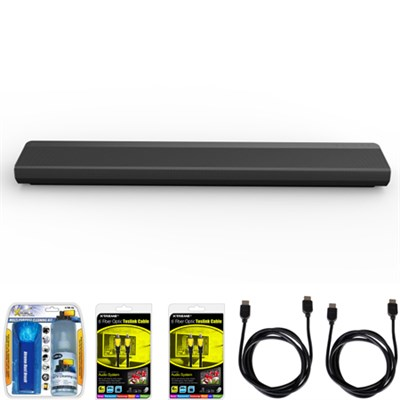 SH6 4.1ch 150W Music Flow Wi-Fi Streaming Sound Bar with Dual Bass Ports Bundle