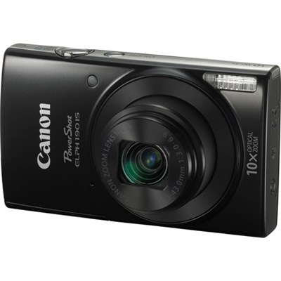 PowerShot ELPH 190 IS Digital Camera w/10x Optical Zoom/Wi-Fi - Blk - OPEN BOX