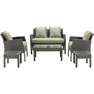 Chelsea 6pc Seating Set: Loveseat 2 Side Chairs 2 Side Tbl Coffee Table