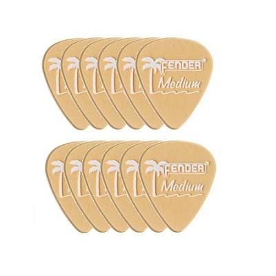 351 California Clears Guitar Picks Shoreline Gold 12 Pack Medium 981351844