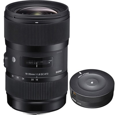 AF 18-35mm f/1.8 DC HSM Lens for Canon with USB Dock for Canon Lens