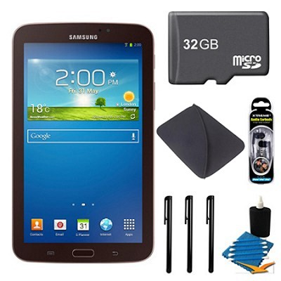 Galaxy Tab 3 (7-Inch, Gold-Brown) + 32GB Micro SDHC and More