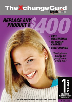 Repair Master 1 Year Extention Replacement Warranty For Products Under $400