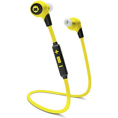 BKHC BK Sport Bluetooth Stereo Tangle-Free Earbuds - Black/Yellow