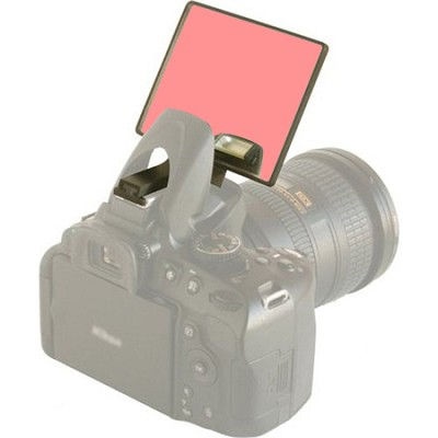 Red Deluxe Flash Bounce Mirror for Pop-up Flash  - (DLUX-MIR-R)