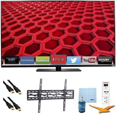 E550i-B2 - 55` LED Smart HDTV 1080p Full HD 120Hz Plus Tilt Mount Hook-Up Bundle