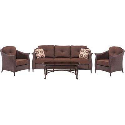 Gramercy 4-Piece Seating Set in Brown - GRAMERCY4PC-BRN