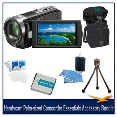 Handycam DCR-SX45 Palm-sized Black Camcorder Essentials Accessory Bundle