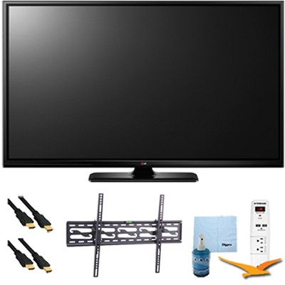 50` Plasma 1080p 600Hz Smart HDTV Plus Tilting Mount & Hook-Up Bundle (50PB6600)