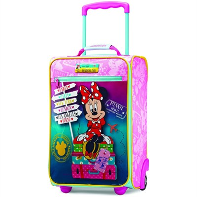 18` Upright Kids Disney Themed Softside Suitcase (Minnie)