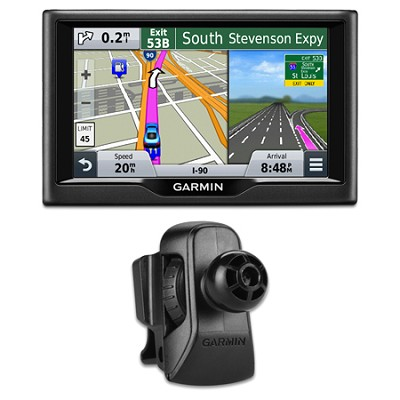 nuvi 57 5.0`-inch Essential Series 2015 GPS Navigation System Vent Mount Bundle