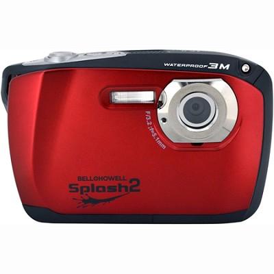 Splash II 16MP Waterproof Digital Camera 2.5` LCD HD Video (Red)(WP16-R)