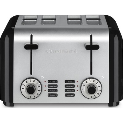 Compact Stainless 4-Slice Toaster - Brushed Stainless