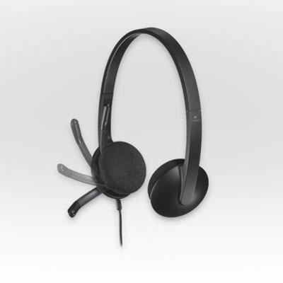 H340 USB Headset in Black for Internet Calls and Music - 981-000507
