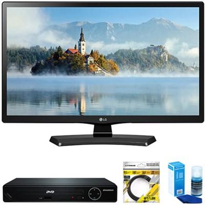 24` Class 23.6` Diag HD 720p LED TV 2017 Model + DVD Player Bundles