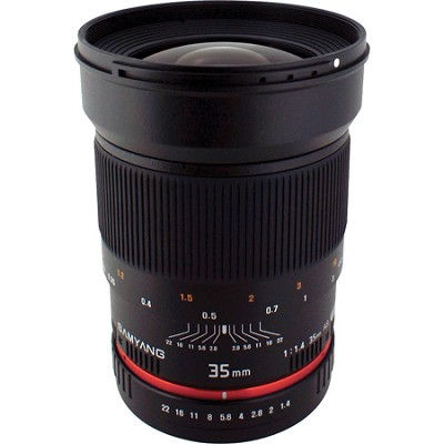 35mm F1.4 Wide-Angle UMC Lens for Nikon AE with Automatic Chip