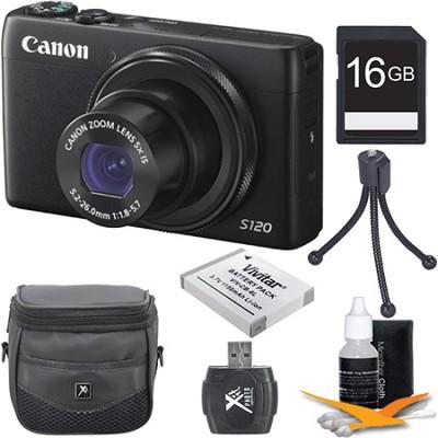 PowerShot S120 12.1MP Digital Camera 16GB Kit