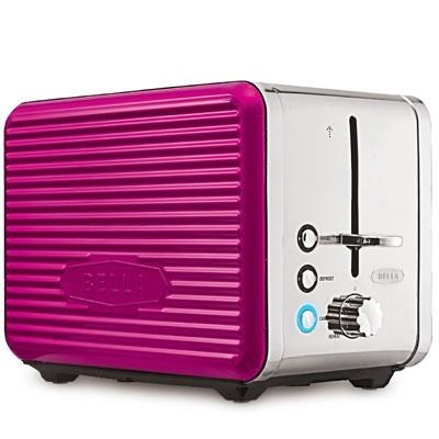 Linea 2-Slice Toaster in Pink - 14175