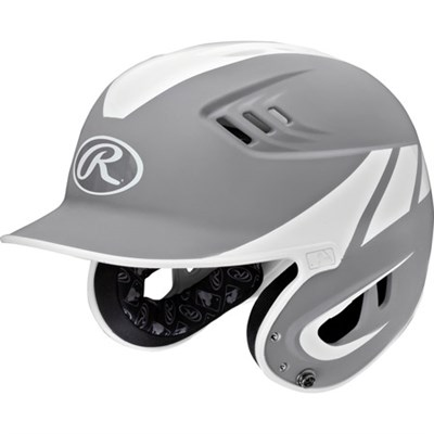 Youth Velo Two-Tone Matte Batting Helmet Silver/White 6 3/8 - 7 1/8