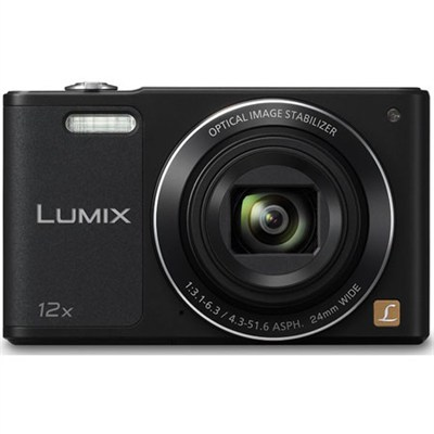 LUMIX DMC-SZ10 Black 16MP Slim Digital Camera with Built-in WiFi- OPEN BOX