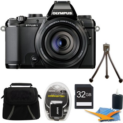 Stylus-1 12MP Digital Camera Black Kit