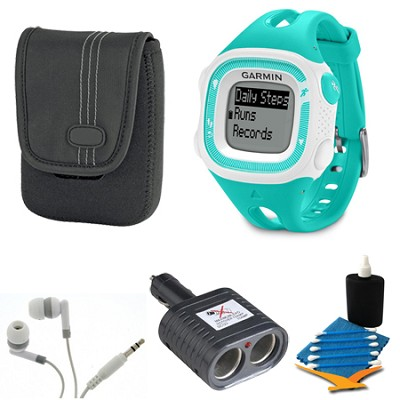 Forerunner 15 Small - Teal/White Bundle