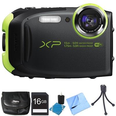 FinePix XP80 16MP Waterproof Digital Camera Graphite Black 16GB Bundle