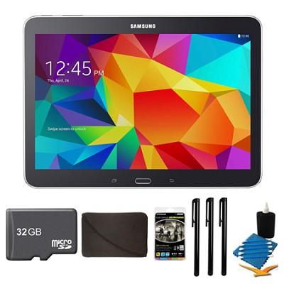 Galaxy Tab 4 Black 16GB 10.1` Tablet, 32GB Card, and Case Bundle