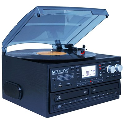 BT-29B, Bluetooth Dual CD Player and Recorder CD2 to CD1, AM/FM Radio&Turntable