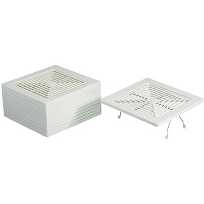 Bathroom Fan Spring Mounted Grille Assembly in White - BP46