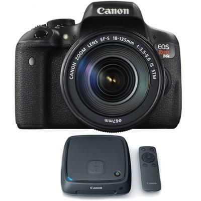 EOS Rebel T6i Digital SLR Camera w/ EF-S 18-135mm Lens + 1TB CS100 Storage Hub