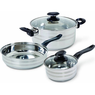 Cuisine Select Manta Bakelite Stainless Steel 5-piece Cookware Set