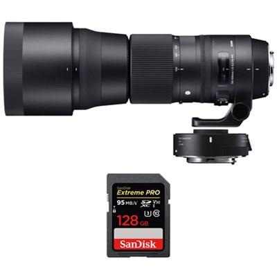 150-600mm F5-6.3 Contemporary Lens w/ Teleconverter Kit +128GB Memory Card