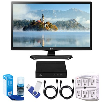 28` 720p HD LED TV (2017 Model) + Terk HD TV Tuner 16GB Hook-Up Bundle