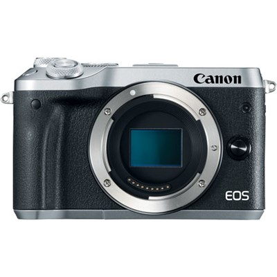 M6 EOS 24.2MP Mirrorless Digital Camera w/ EF-M 18-150mm IS STM Silver KIT 2