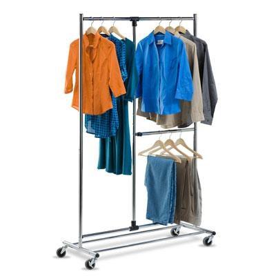 Two Tier Garment Rack Chrome