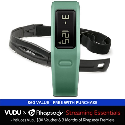 vivofit Fitness Band w/ Heart Rate Monitor + Vudu and Rhapsody Streaming Bundle