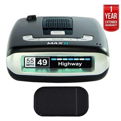 Passport Max2 HD Radar Detector + Car Mat Bundle + 1 Year Extended Warranty