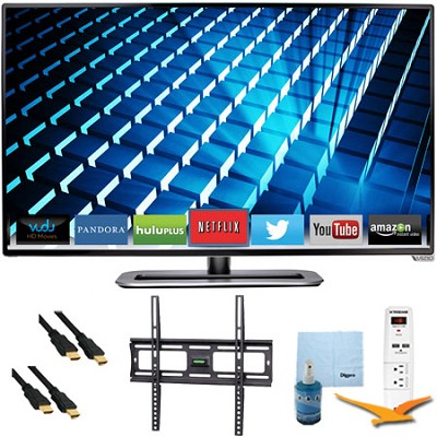 M322i-B1 - 32` Ultra-Slim LED 1080p 120Hz Smart HDTV Plus Mount & Hook-Up Bundle
