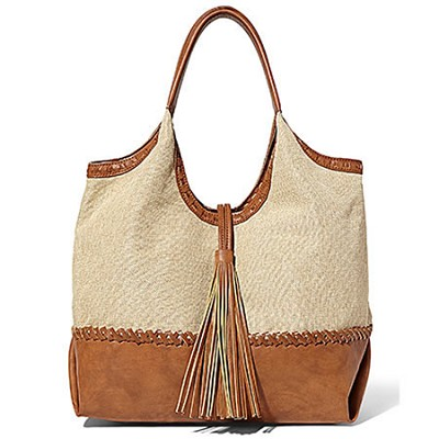 Portofino Bag - Tan/Linen