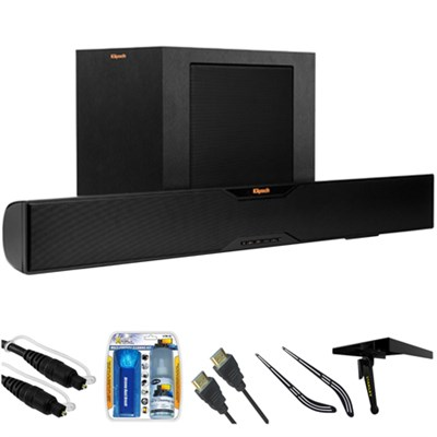 Bluetooth Soundbar With Wireless Subwoofer R-10B w/ Accessories Bundle