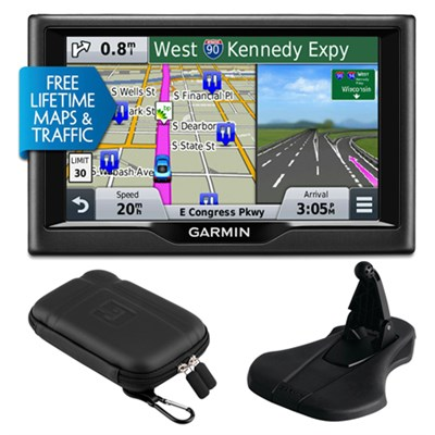 nuvi 58LMT 5` Essential Series 2015 GPS w Maps/ Traffic Mount & Case Bundle
