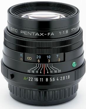 smc P-FA 77mm f/1.8 Limited Edition Black Finish Telephoto Lens