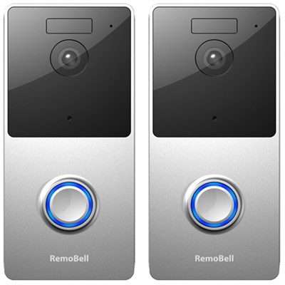 2-Pack WiFi Video Doorbell (Battery Powered, Night Vision & 2-Way Audio) RMB1M