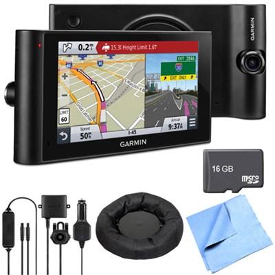 dezlCam LMTHD 6` GPS Truck Navigator w/ Dash Cam Deluxe Backup Camera Bundle