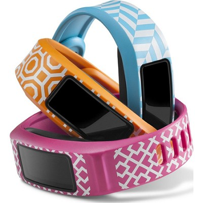 Vivofit 2 Fitness Band Bundle Jonathan Adler Palm Beach Trio - Pink/Orange/Cyan