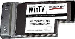 WinTV HVR-1500 Notebook Express Card HDTV Tuner/Video Recorder w/o Remote 1195